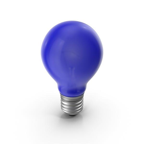 Lightbulb Blue Glossy