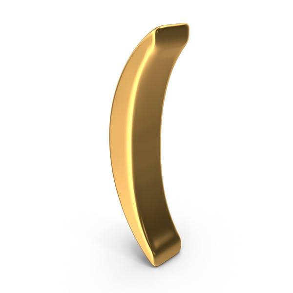 Gold Parenthesis Symbol