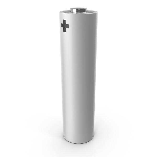White Metallic AA Battery