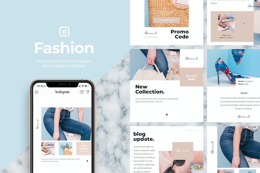 6 Promo Fashion Instagram Post Vol.4