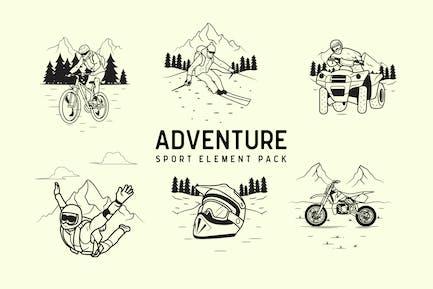 pack de elementos de Aventura Deporte