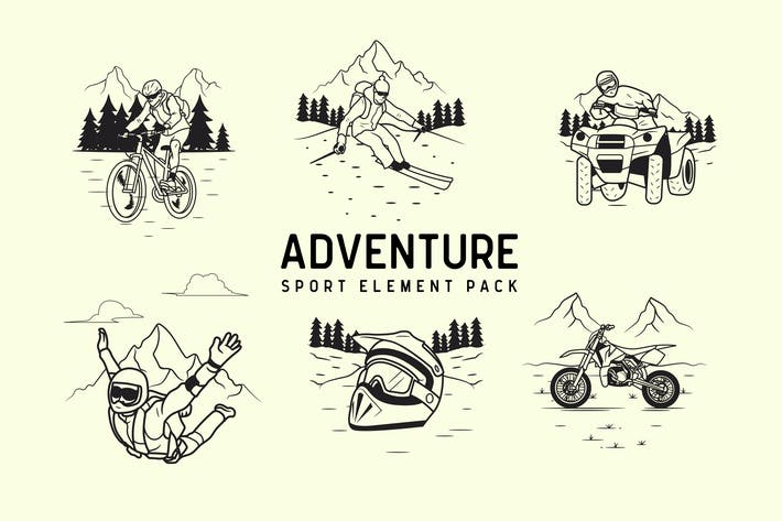 Cover Image For adventure sport element pack