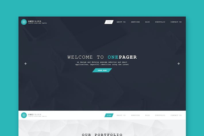 Thumbnail for One Pager - Single Page PSD Template