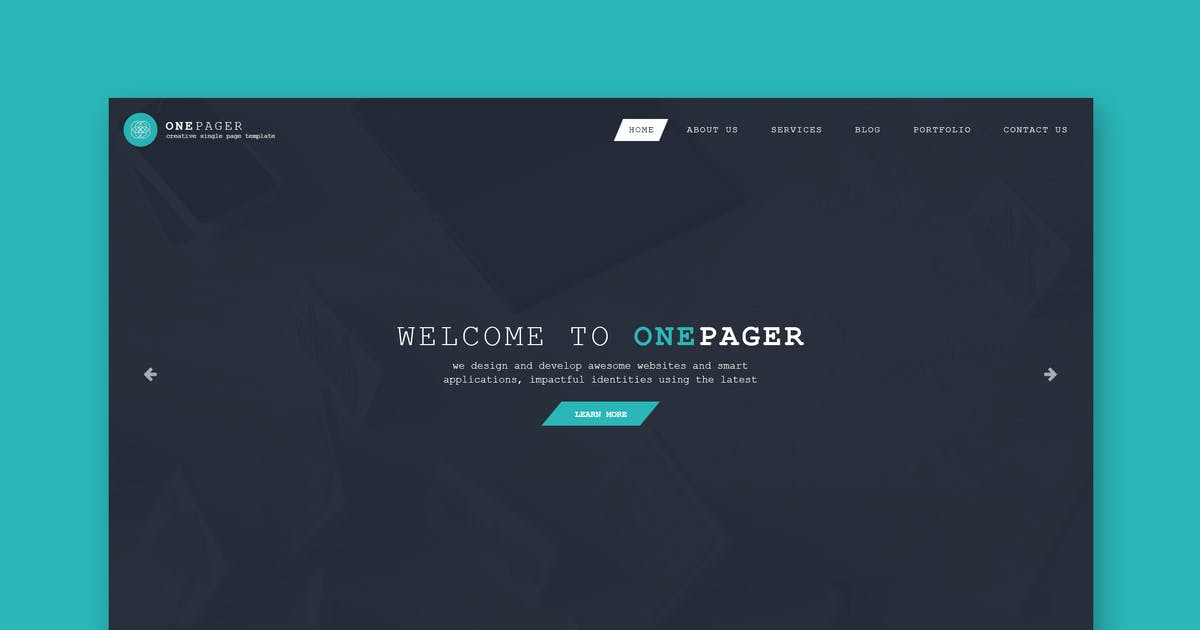 Download One Pager - Single Page PSD Template by Unknow