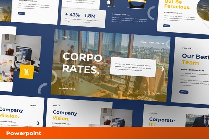 Thumbnail for Corporate. Presentation Template