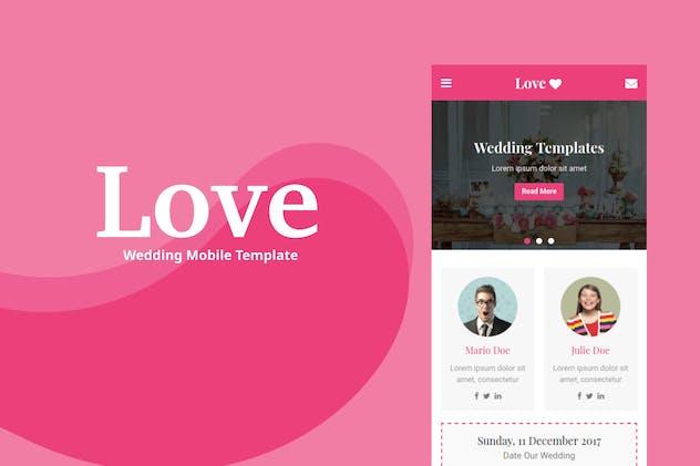 Love - Wedding Mobile Template