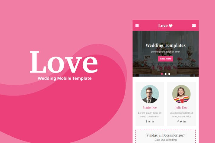 Thumbnail for Love - Wedding Mobile Template