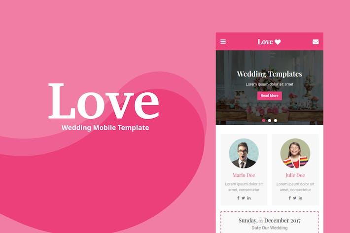 Thumbnail for Love - modèle mobile mariage
