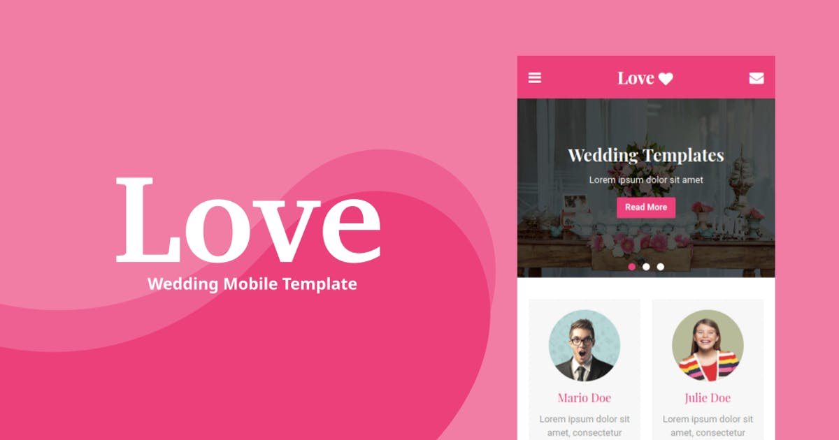 Download Love - Wedding Mobile Template by rabonadev