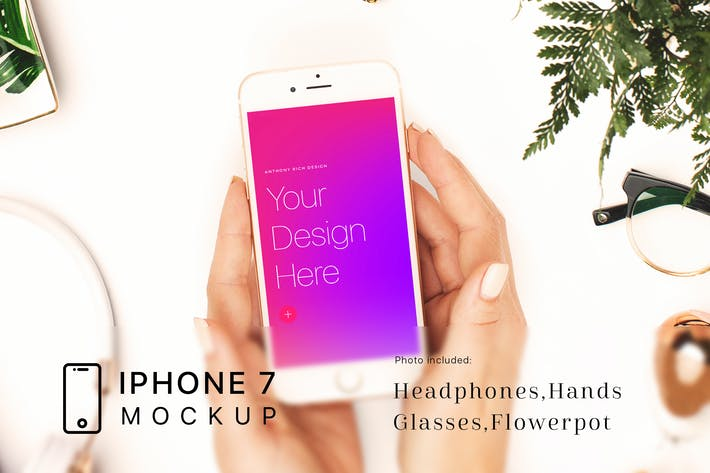 Thumbnail for Workspace iPhone 7 Mockup