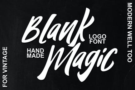 Blank Magic Logotype Font