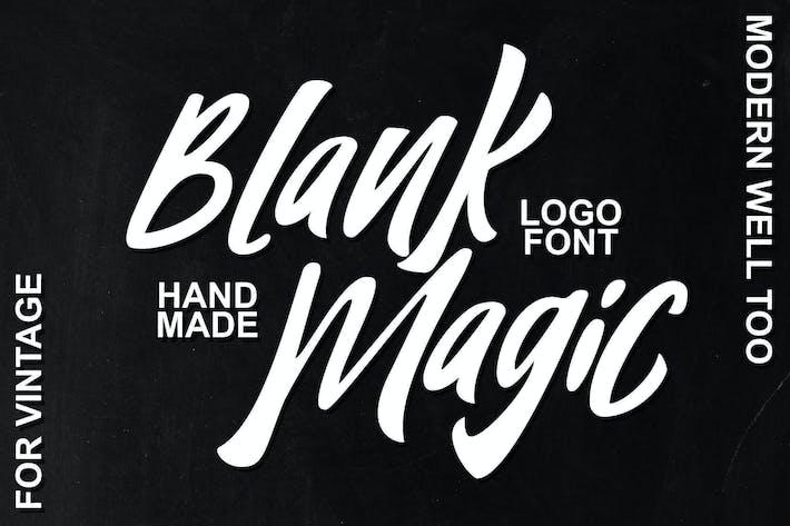 Fuente del logotipo mágico en blanco