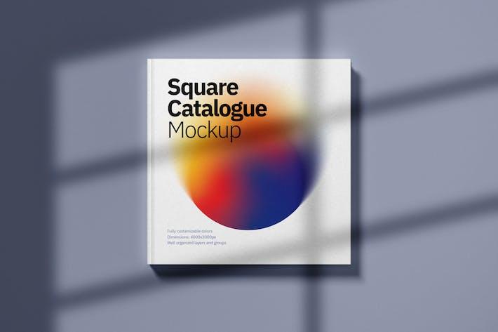 Thumbnail for Square Catalogue Cover Mockup