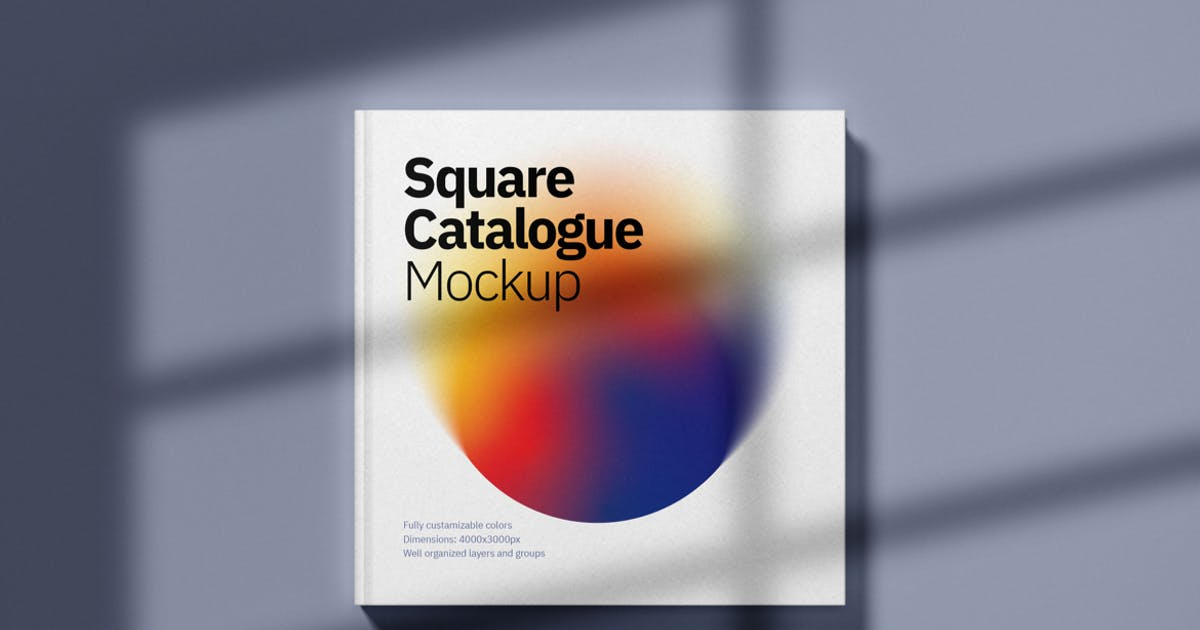 Download Square Catalogue Cover Mockup by deeplabstudio