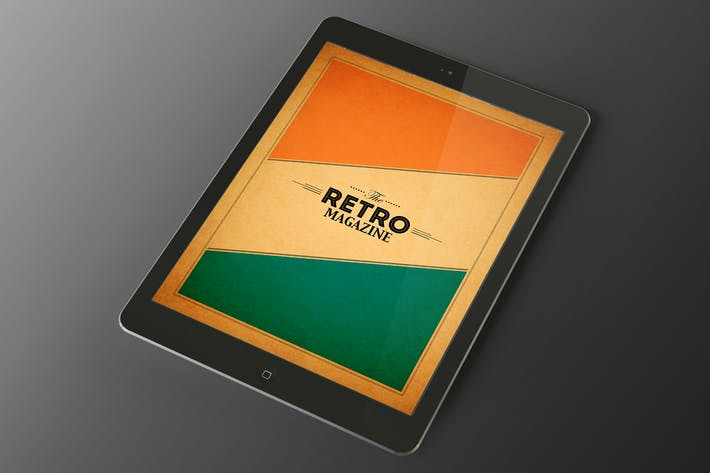 Thumbnail for Tablet Retro Magazin Indesign Vorlage