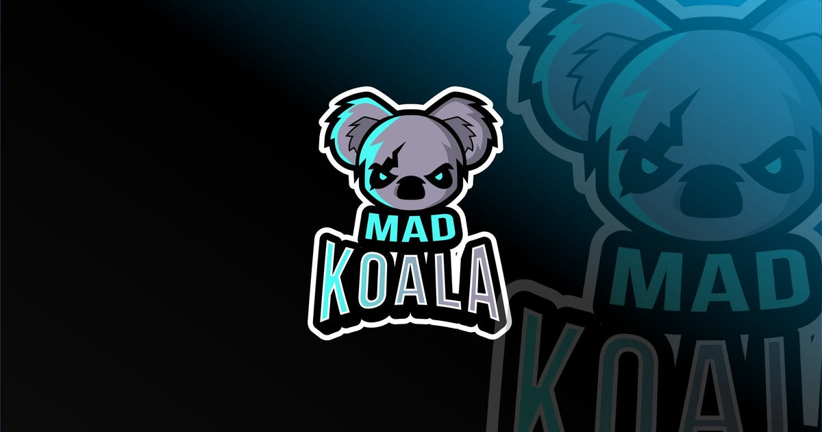 Download Mad Koala Esport Logo Template by IanMikraz