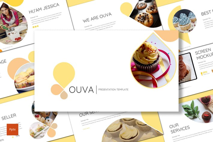 Ouva Bakery Powerpoint Template by inspirasign on Envato