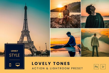 Lovely Tones Action & Lightroom Preset