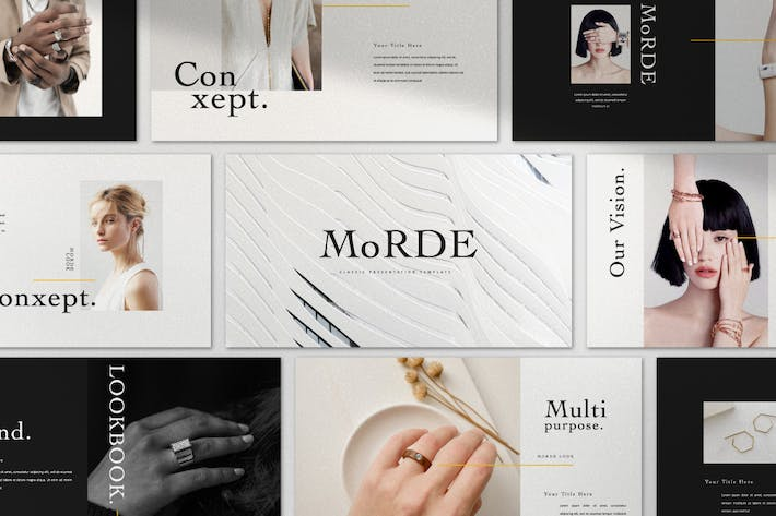 MoRDE - Minimal Business Google Slides