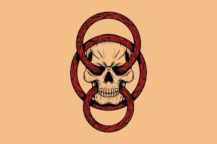 Schädel und Ringe