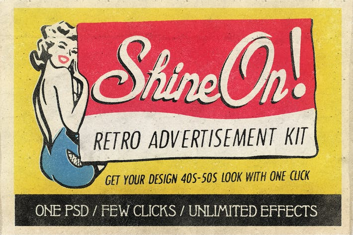 Thumbnail for Shine On - Retro Advertisement Kit