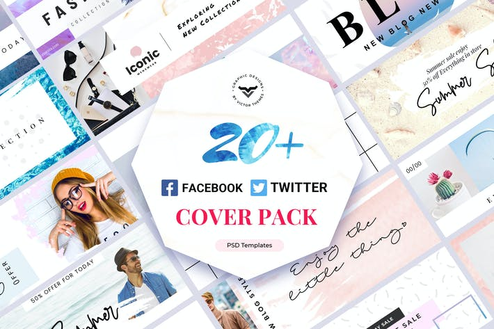 Thumbnail for Facebook & Twitter Cover Template