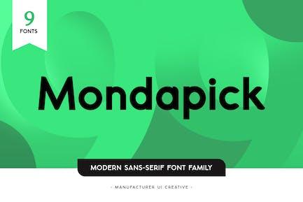 Семейство шрифтов Mondapick без С засечками