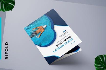 Bifold Broschüre Schwimmtraining Center & Pool
