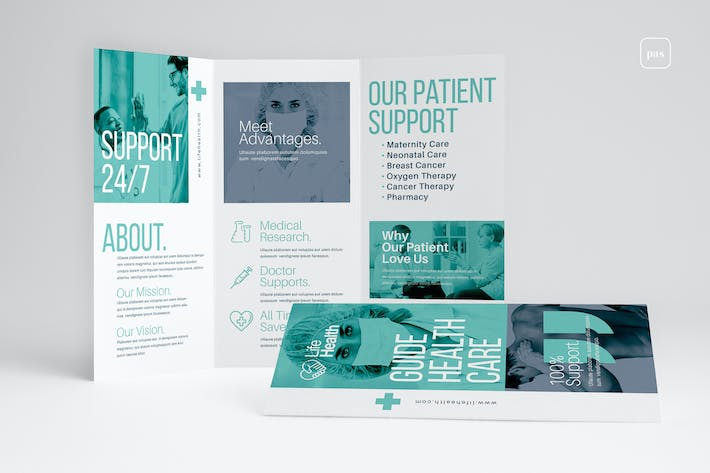Thumbnail for Modern Medical Trifold Brochure