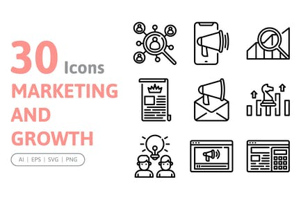 30 Marketing and Growth Icons