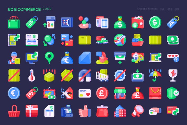 Thumbnail for 60 E Commerce Icons