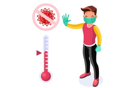 Coronavirus Infected Person Symbolic Infection