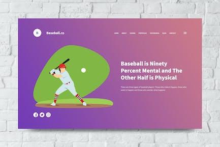 Baseball Web Header PSD and Vector Template