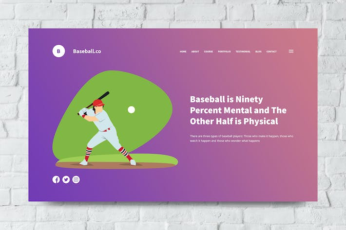 Baseball Web Header PSD and Vector Template