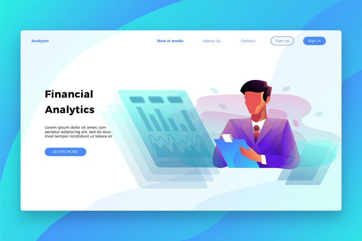 Financial Analytics - Banner & Landing Page