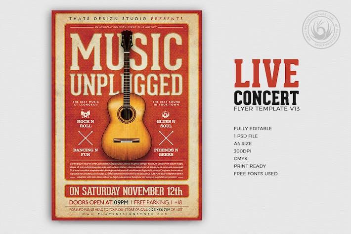 Thumbnail for Live Concert Flyer Template V13