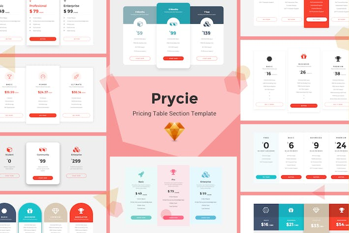 Thumbnail for Prycie - Pricing Table UI Kit Template