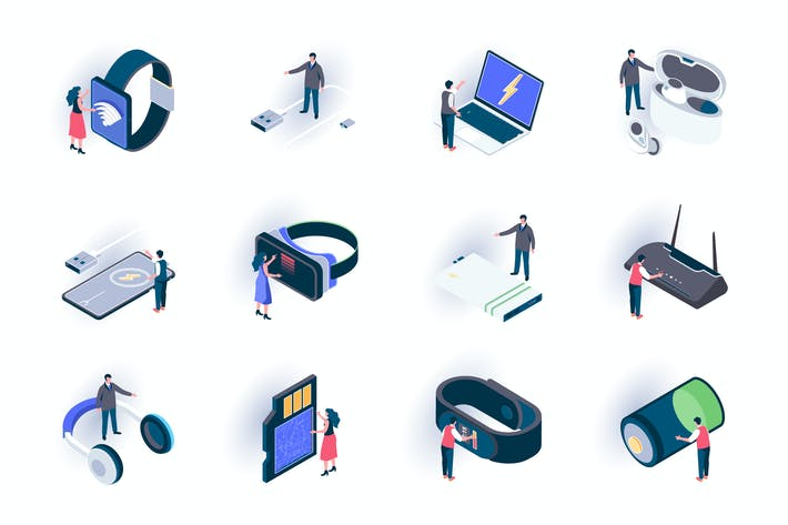 Thumbnail for Technology Devices Isometric Icons Pack