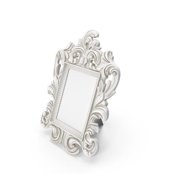 Baroque Photo Frame Dirt White