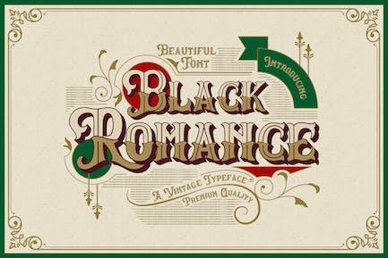 Black Romance - Vintage Blackletter Shadow Font
