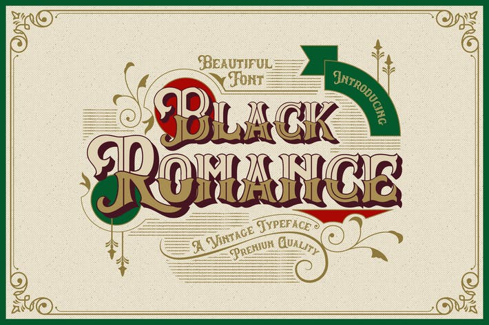 Thumbnail for Black Romance - Vintage Blackletter Shadow Font
