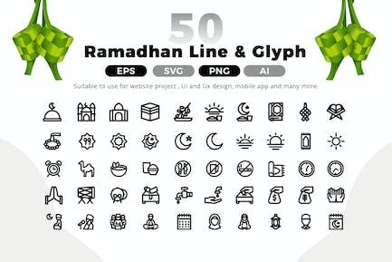 Pack d'icônes Ramadan Line