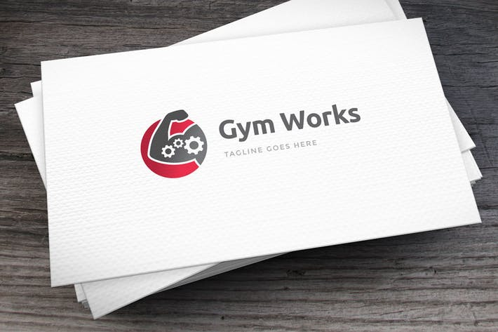 Thumbnail for Gym Works Gear Logo Template