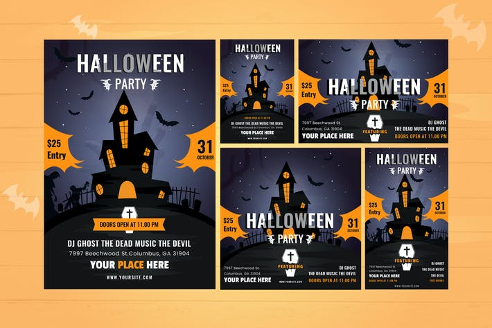 Thumbnail for Halloween Flyer Set & Instagram Story