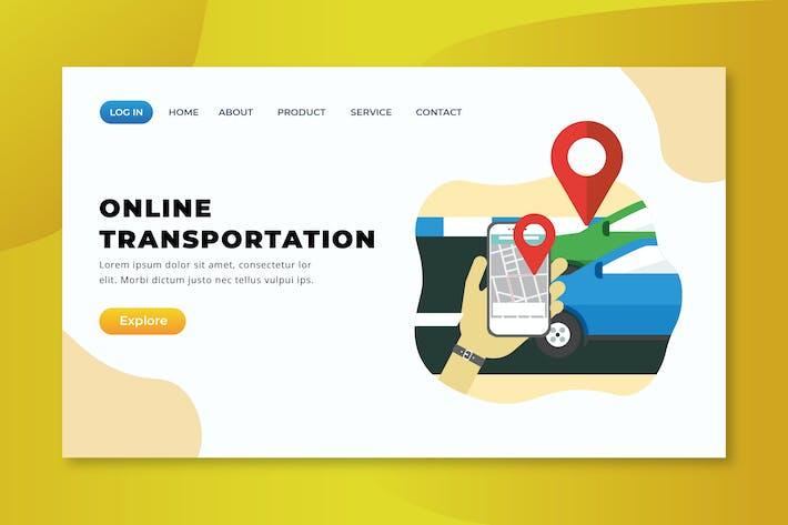 Thumbnail for Online Transportation - XD PSD AI Vector Landing P