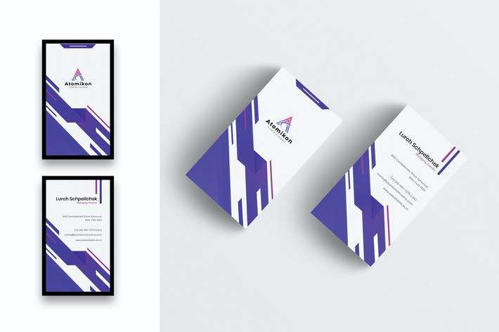 Thumbnail for Creative Business Card Template-Vertical