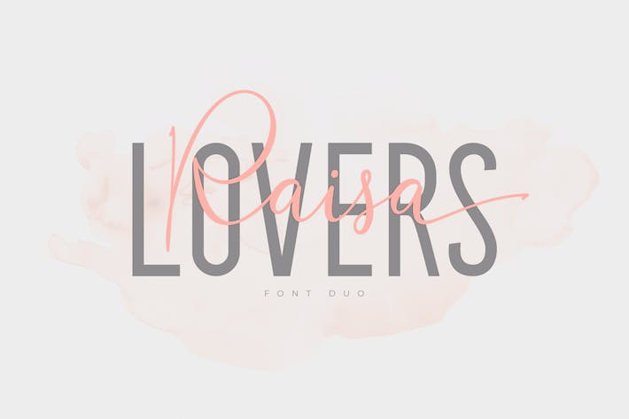 Thumbnail for Raisa Lovers Font Duo