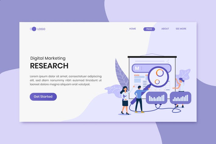 Survey Research Digital Marketing Landing Page