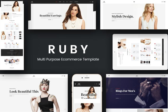Thumbnail for Ruby - Jewelry Store Responsive Magento Theme