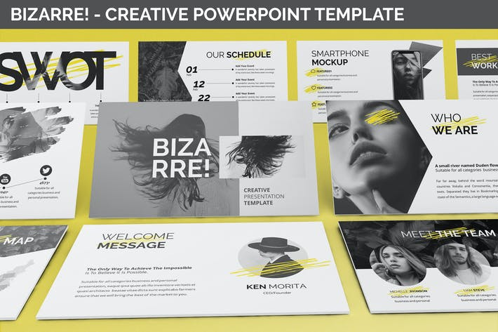 Thumbnail for Bizarre - Creative Powerpoint Template